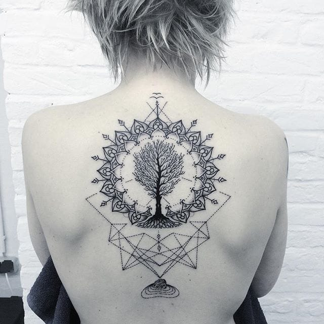 Clean Contemporary Blackwork Tattoos by Andy Ma
