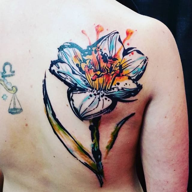 Bold Watercolor Tattoos by Jay Van Gerven
