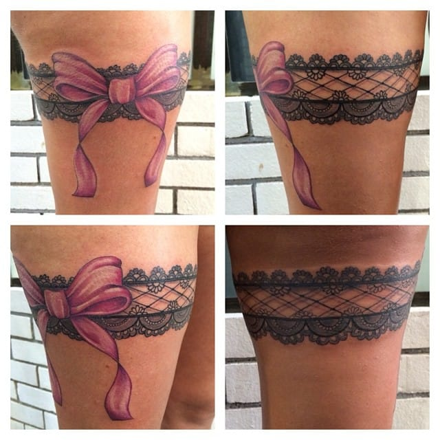 With a pink bow by Stephanie de Pertuis.