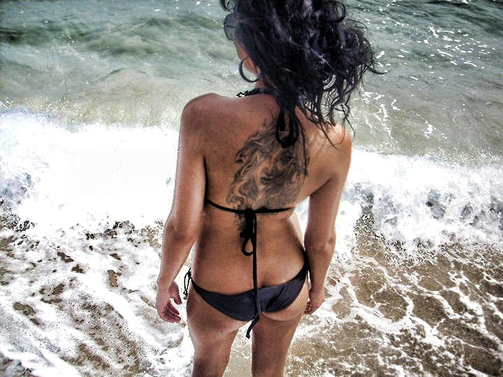 That moment when you step into the water... (Model Unknown)