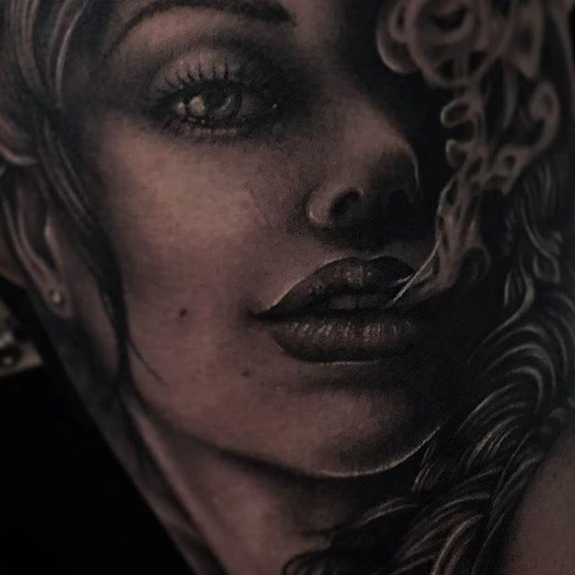 Elegant Black & Grey Tattoos by Beau Parkman