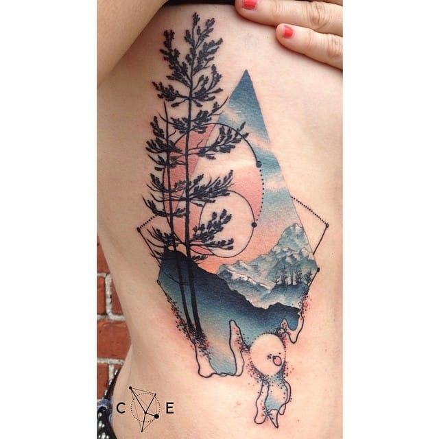 Gorgeous mystic tattoo by Cody Eich.