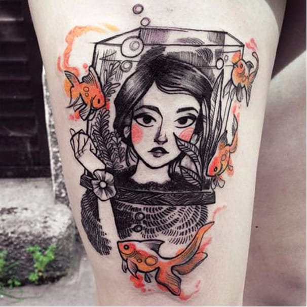 DeviantArt Illustrator Creates Fantasy Tattoos