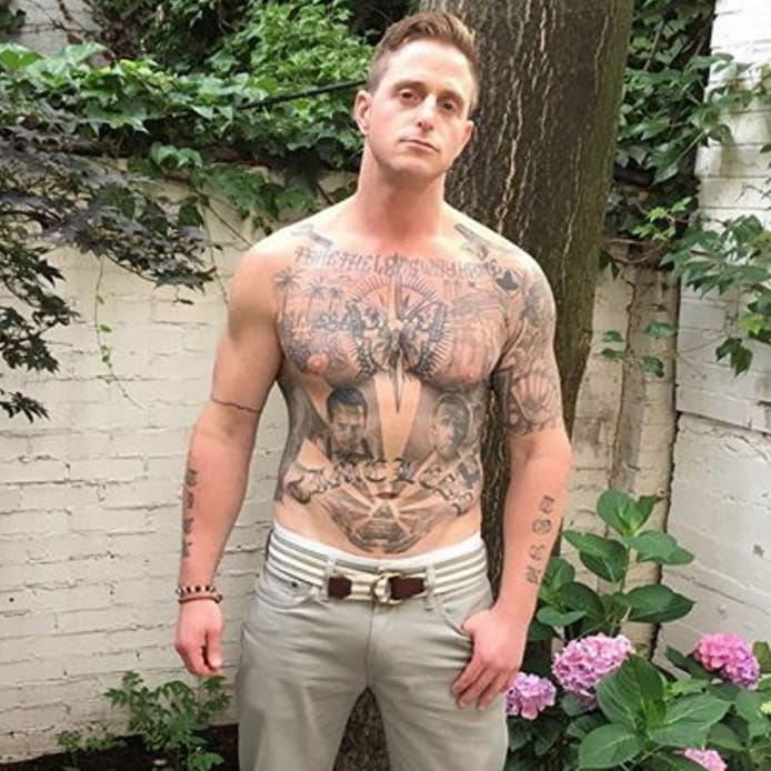Michael Douglas's Son has a Tattoo on his Stomach... of his Dad's Face