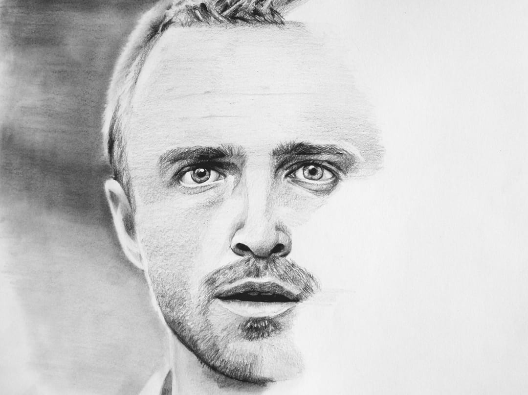 Stunning realistic Jesese Pinkman portrait done by Jordan Bender
