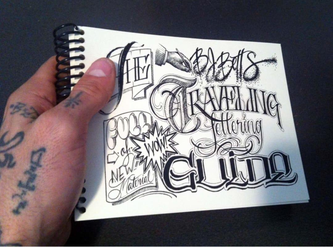 fancy lettering drawing