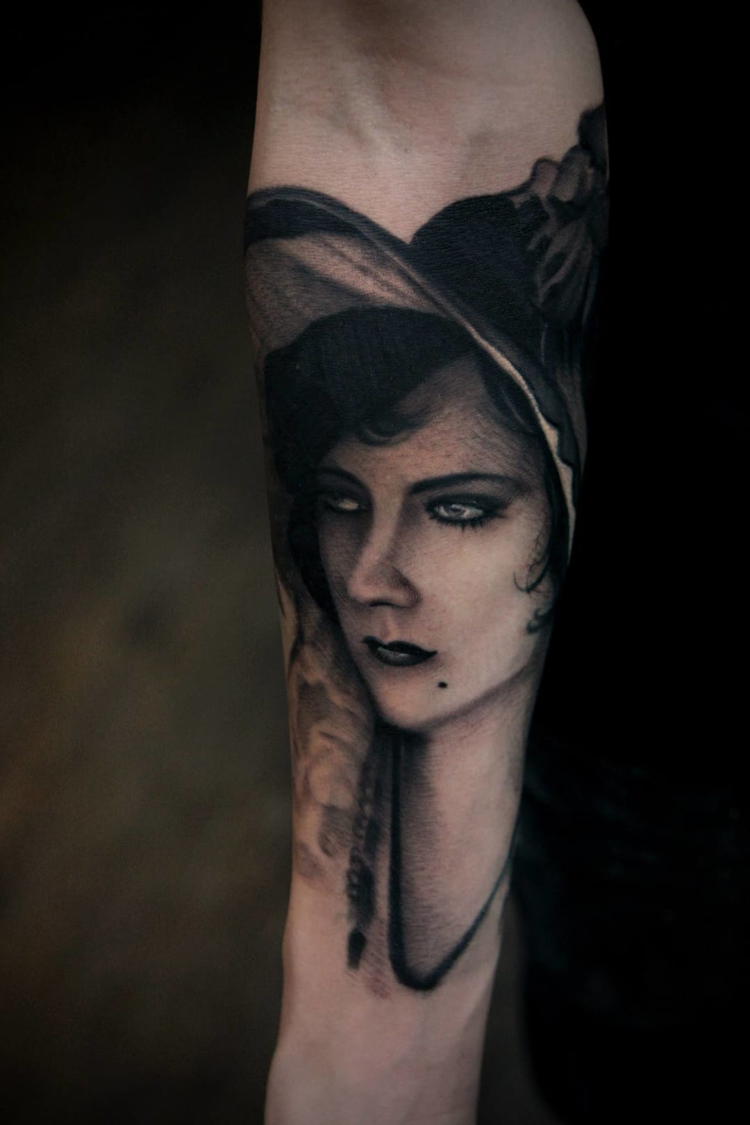 A darker tattoo by Jamie Ames Navarro.