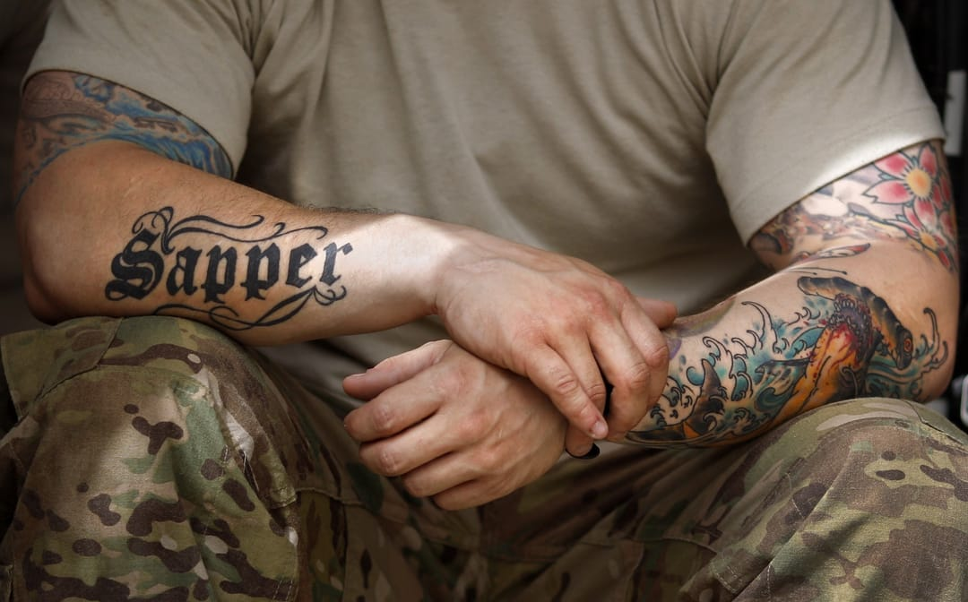 Tattoos or not a soldier serves and protects their country