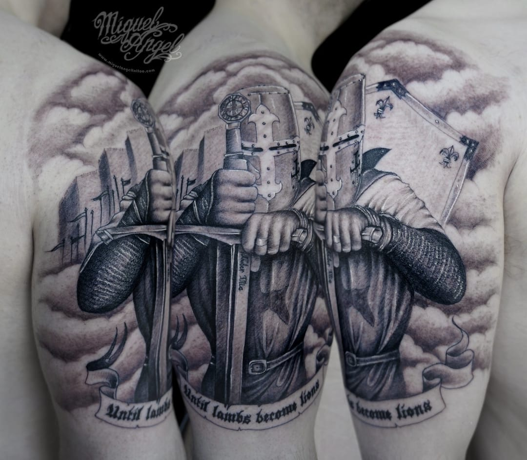 20 Epic Knight Tattoos