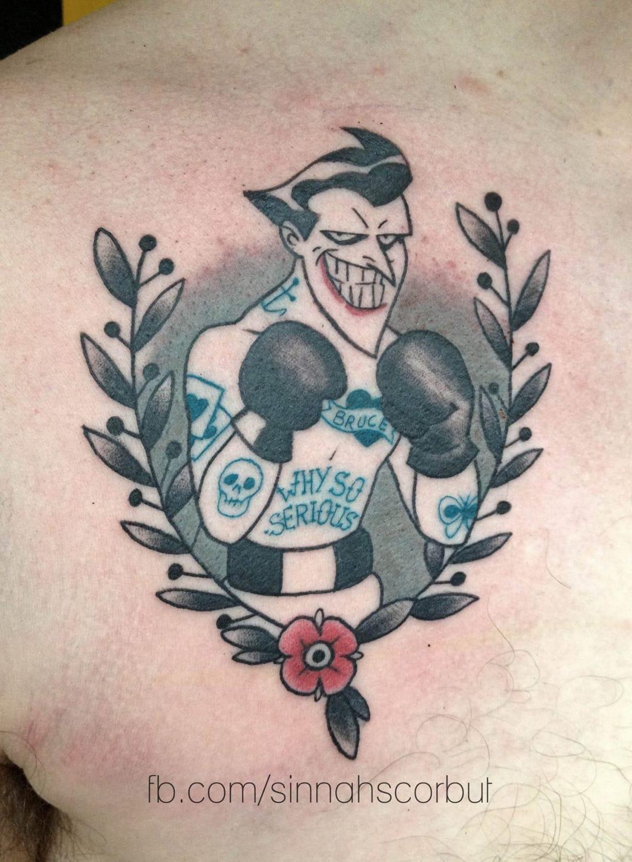 20 twisted dc 39 s joker tattoos tattoodo for Joker batman tattoo