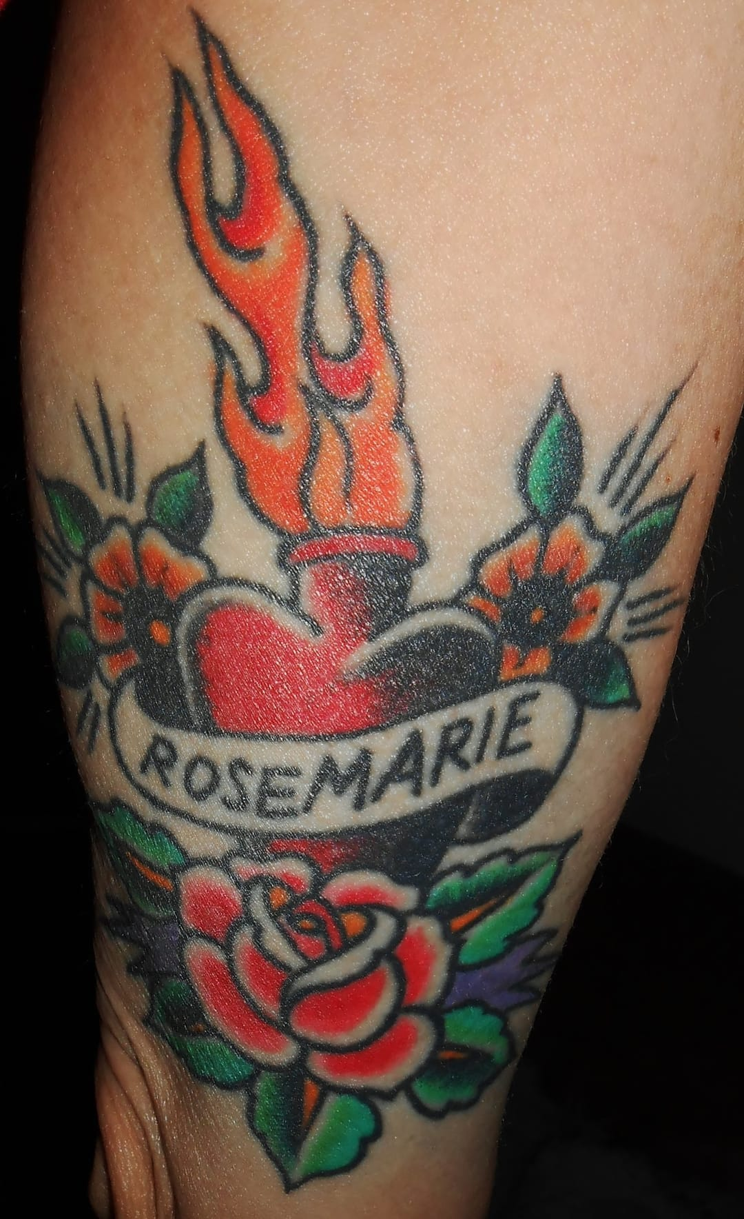 I too, don ink in honor of my mother, Rosemarie. By DROSS, DamionRossTattoo, InvisibleNYC