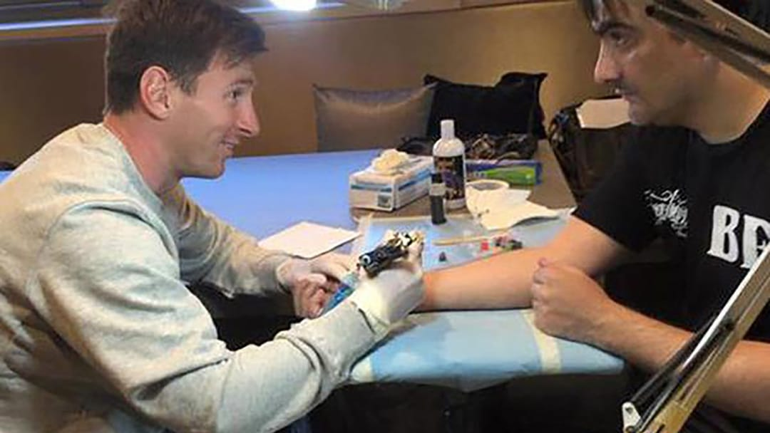 Messi tattooing