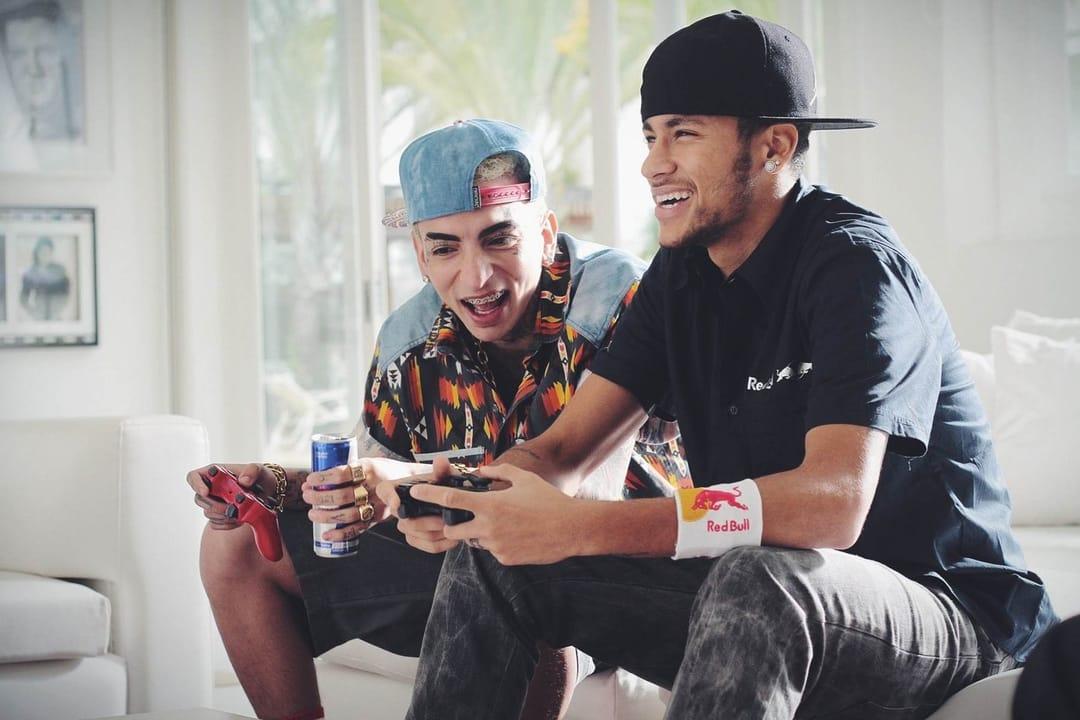 Descontração com Neymar Jr na gravação do clipe