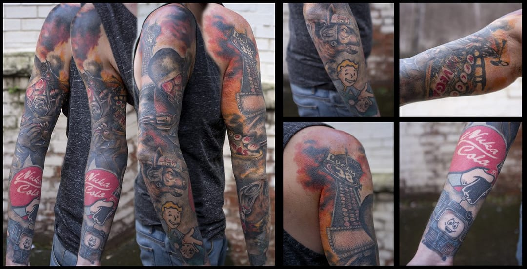 Fallout New Vegas sleeve. Artist unknown