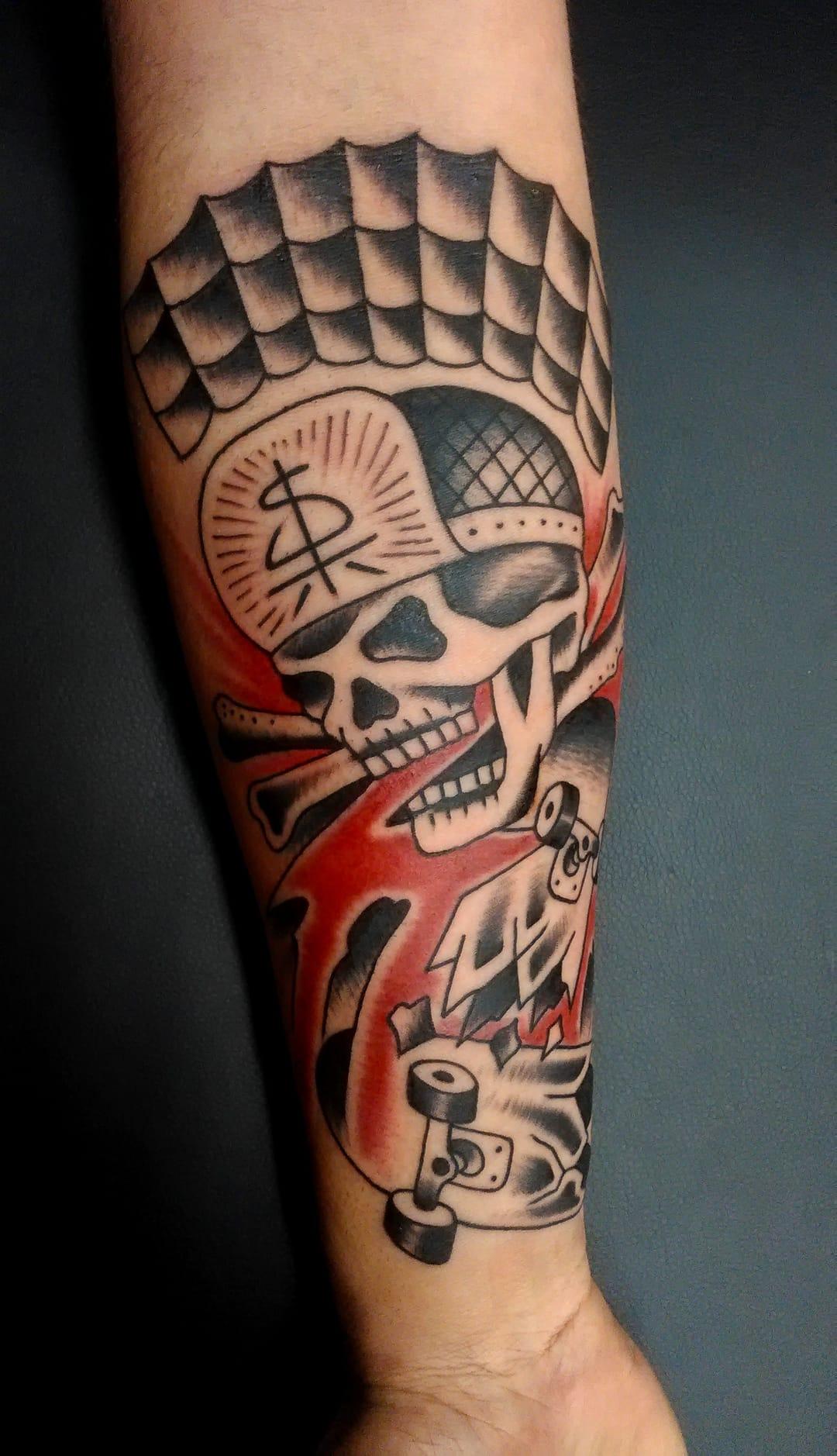 skate tattoo uma pictures to pin on pinterest tattooskid. Black Bedroom Furniture Sets. Home Design Ideas
