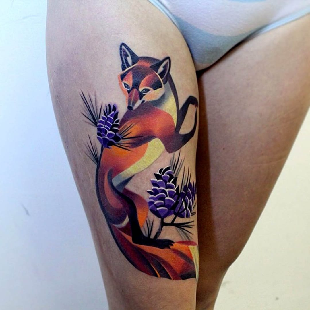 Tatuagens coloridas, colírio para os olhos
