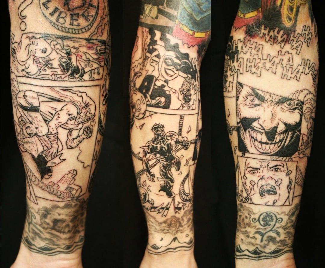 Incrível tatuagem Comics tradicional (Sabe o nome do artista? Conte para a gente nos comentários)