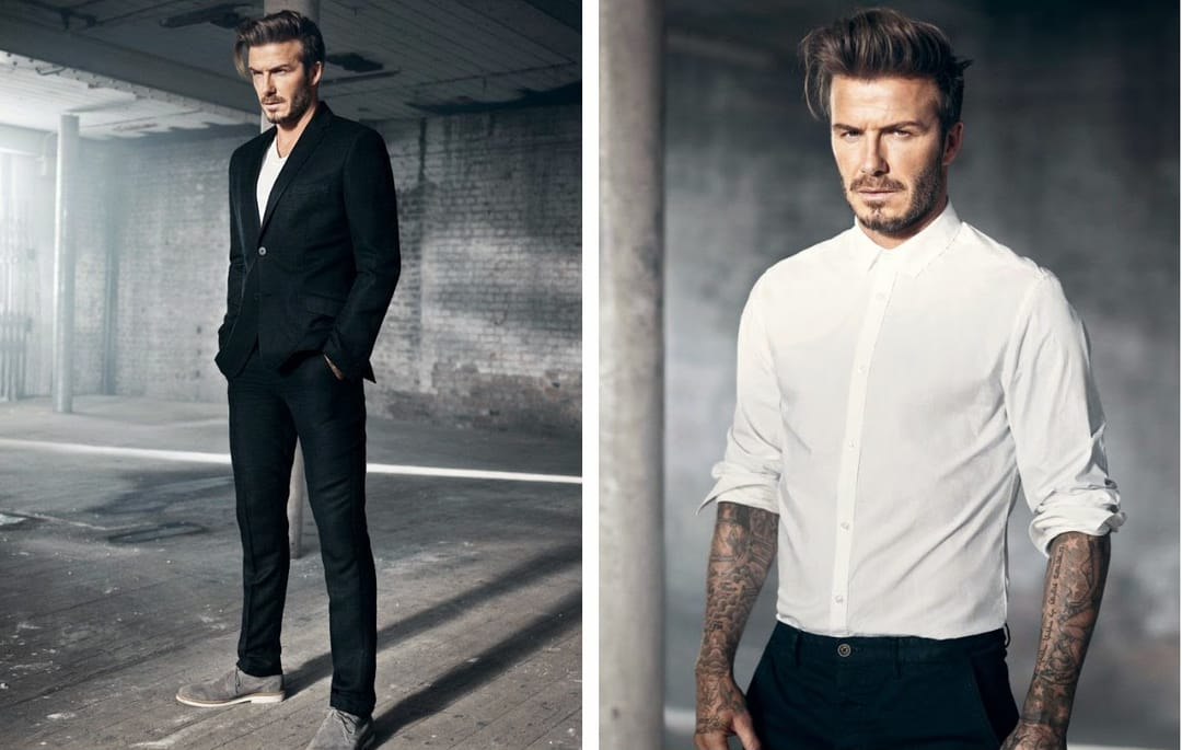 David Beckham dressing to impress!