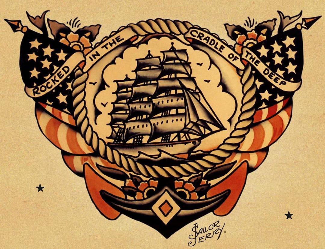 Sailor Jerry flash ship design