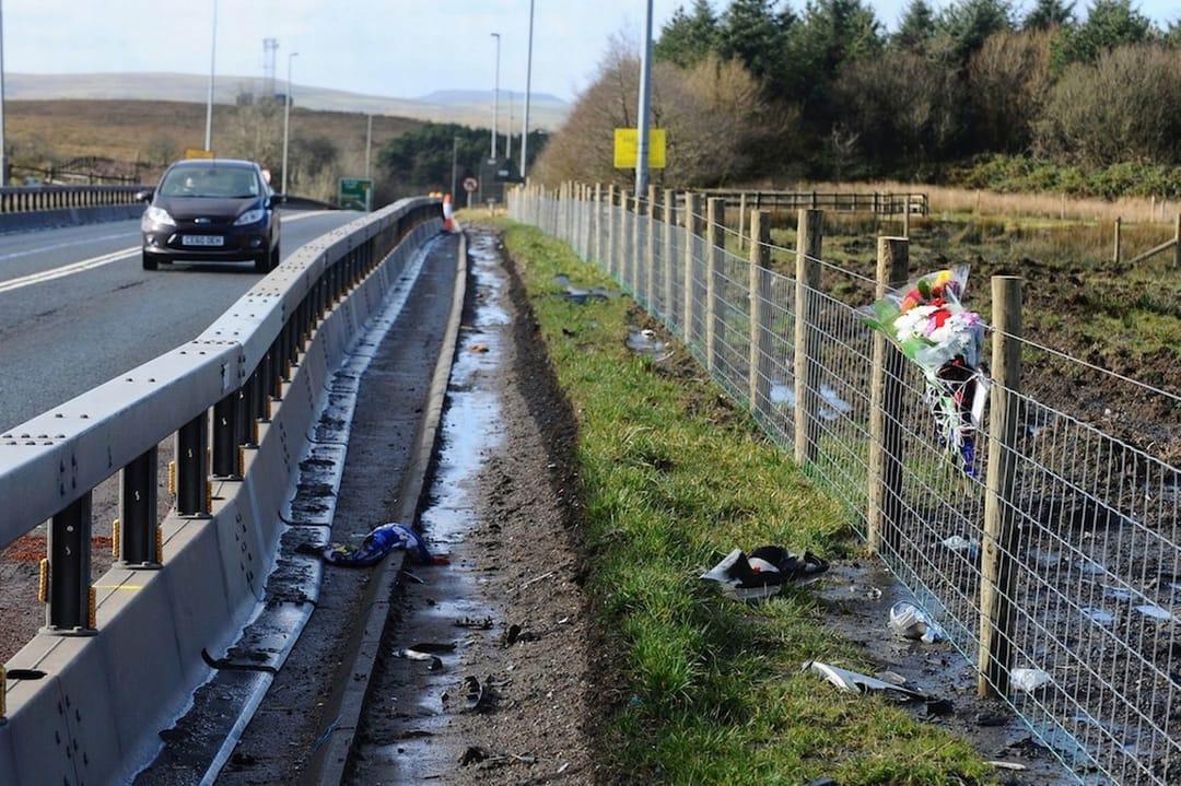 Foto tirada no dia do acidente que matou Sophie e trouxe à vida a sua filha, Kayleigh