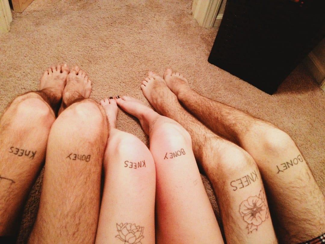 Friendship stick and poke tattoo, Real Friends Band / Tumblr #stickandpoke #handpoked