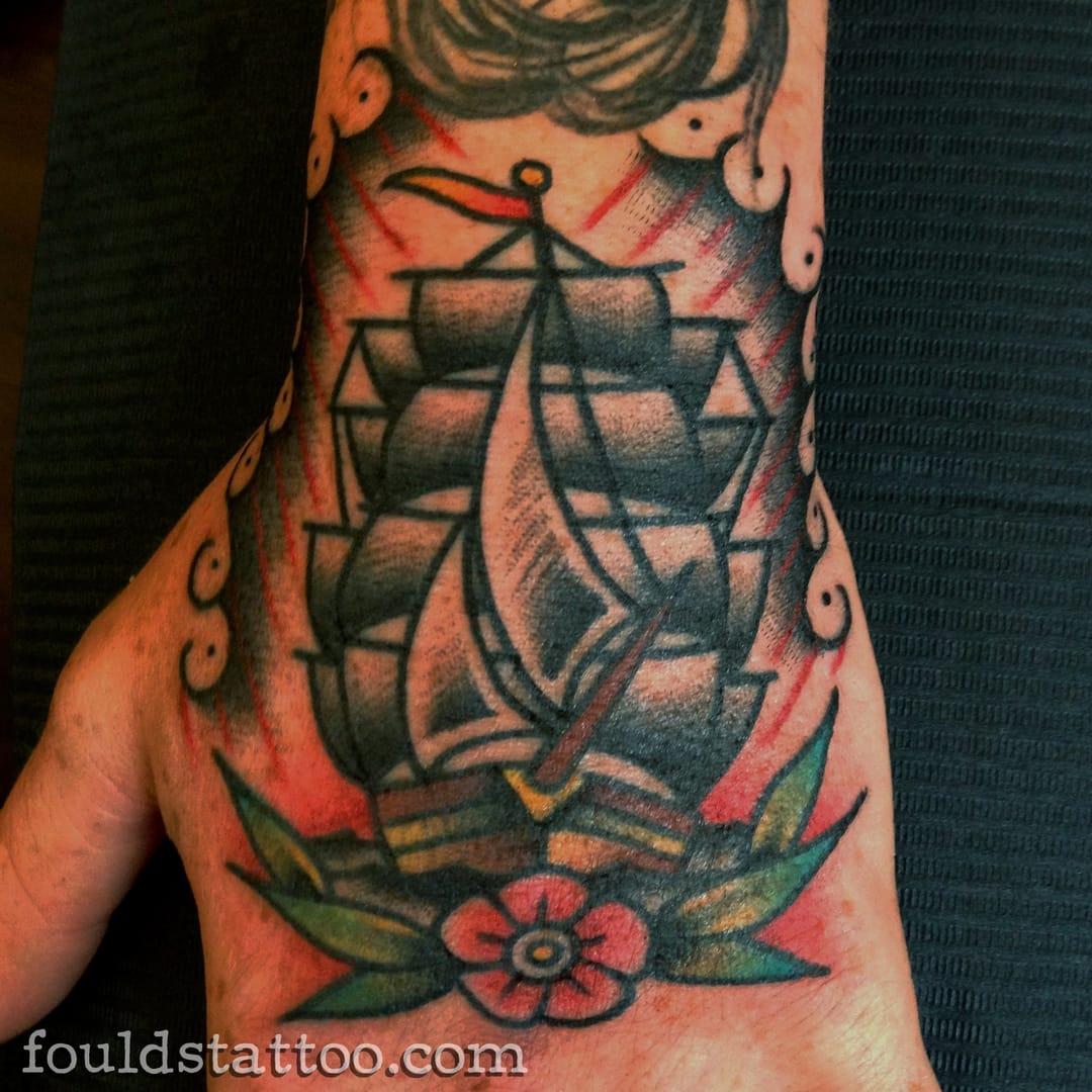 Beautiful hand tattoo design