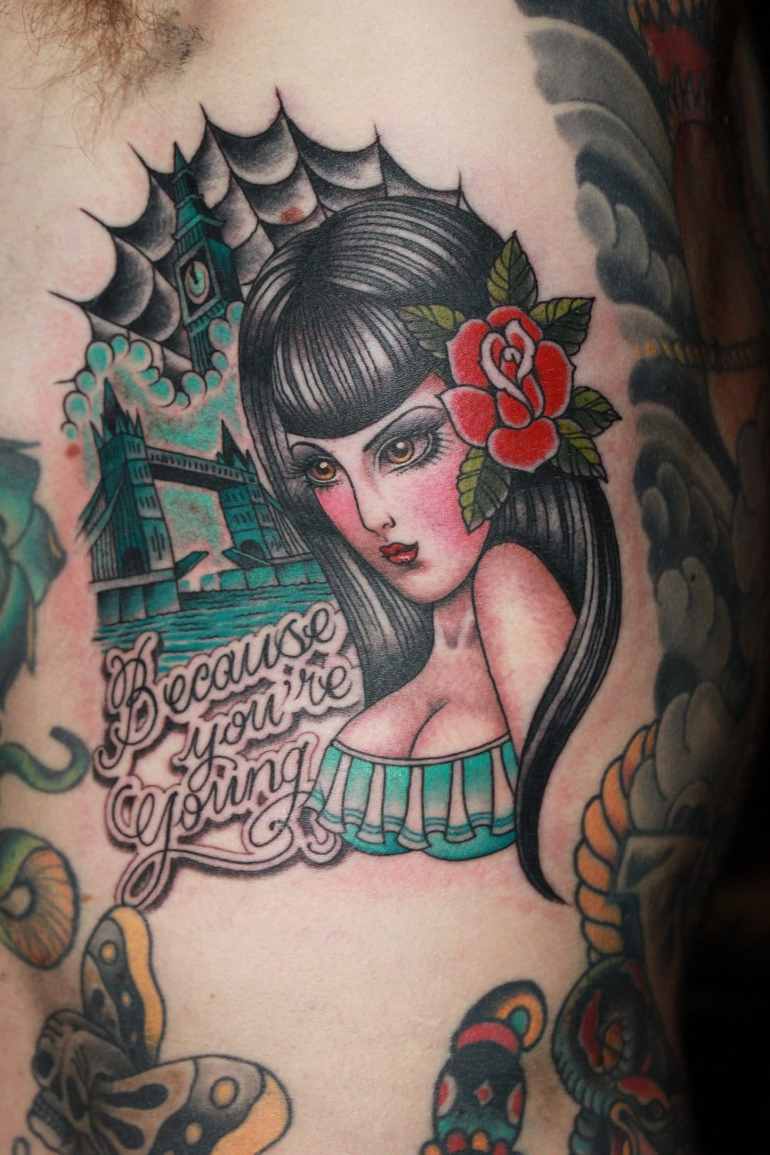 Great tattoo by Valerie Vargas.