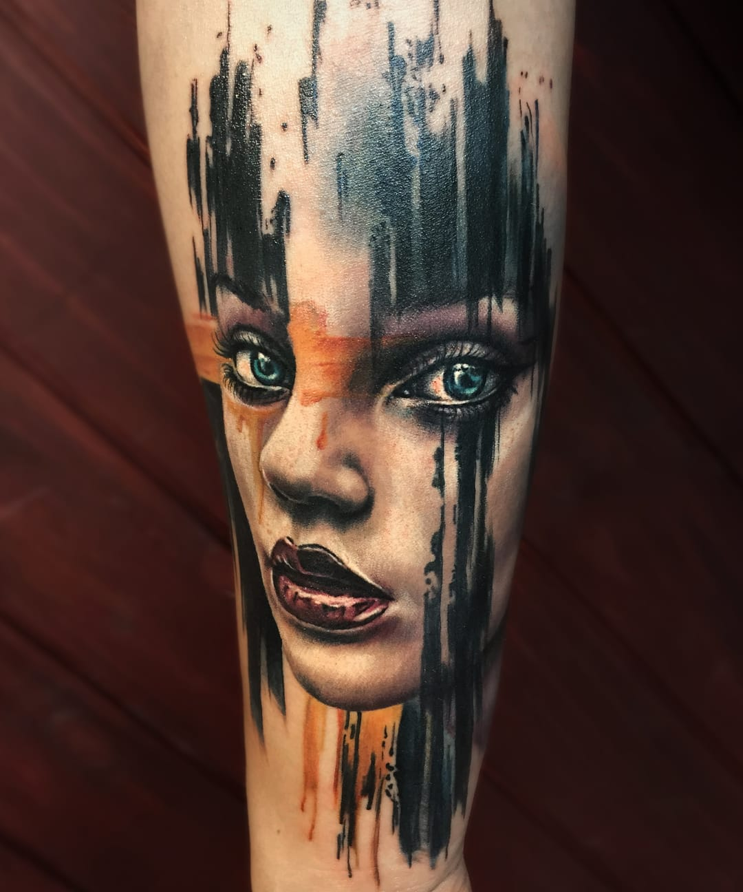 Beautiful portrait tattoo