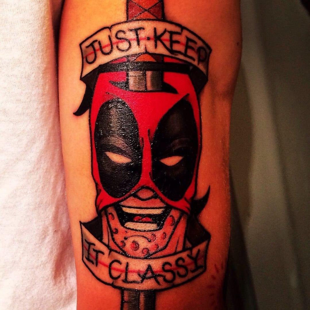 Just keep it classy, Deadpool tattoo