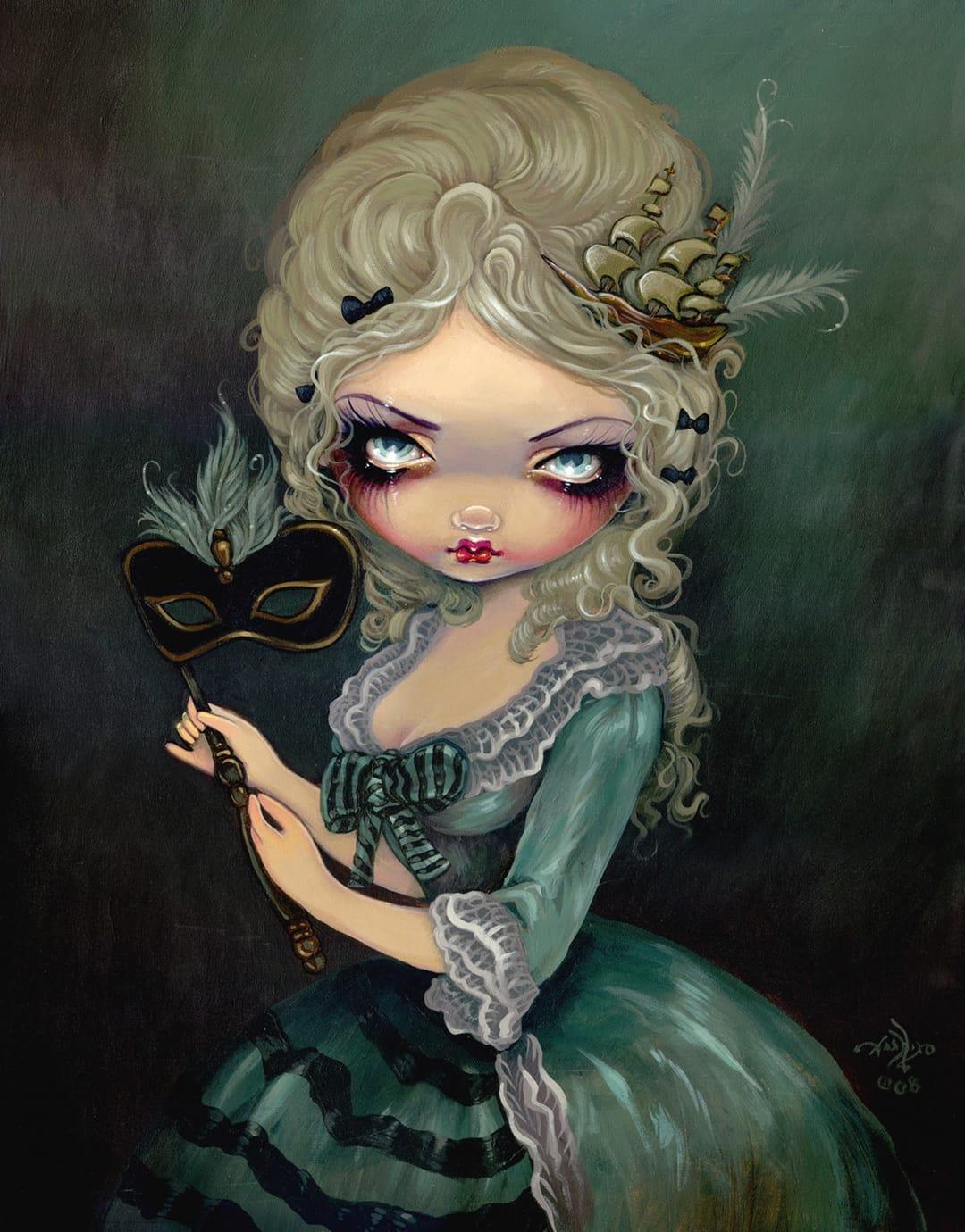 Marie Antoinette style doll.