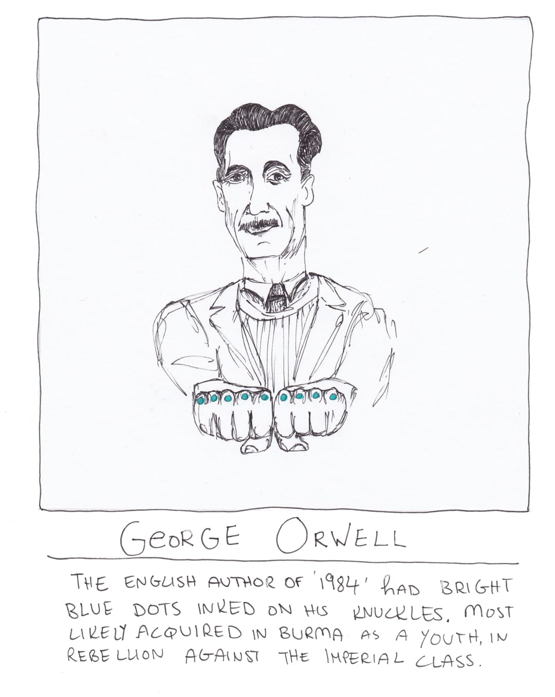george orwell tattoo drawing