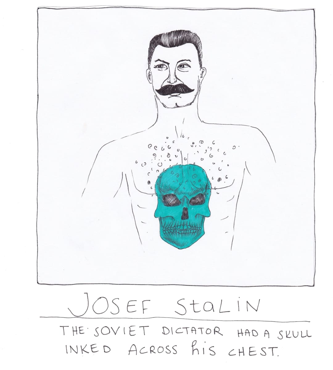 Josef Stalin tattoo drawing