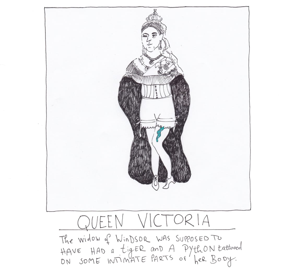 Queen Vic tattoo drawing