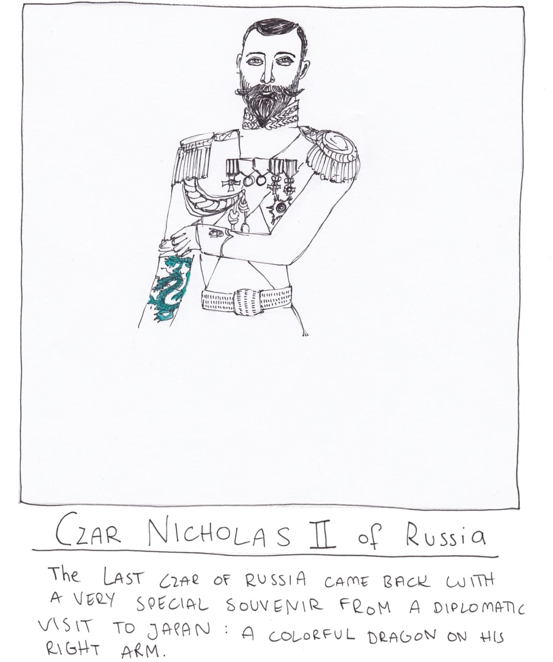 tzar nikolas tattoo drawing