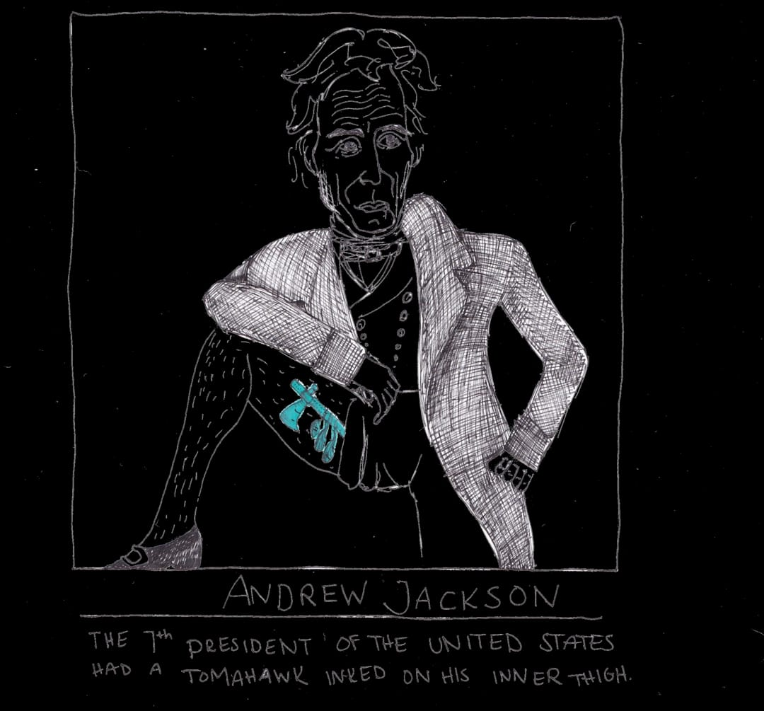 andrew jackson tattoo drawing
