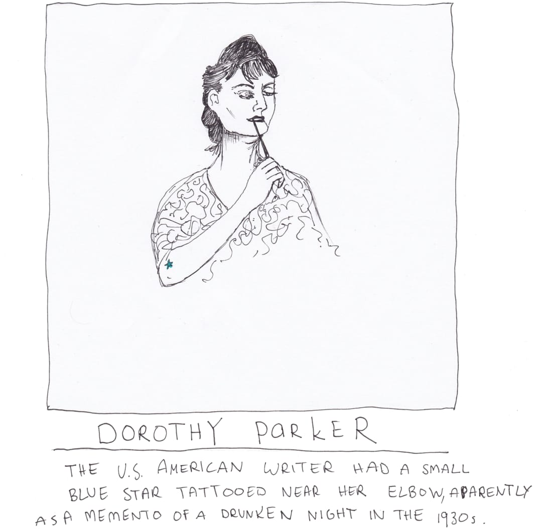 dorothy parker tattoo drawing