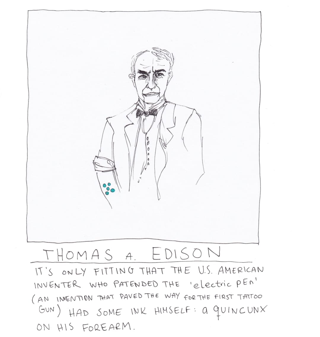 Thomas Edison tattoo