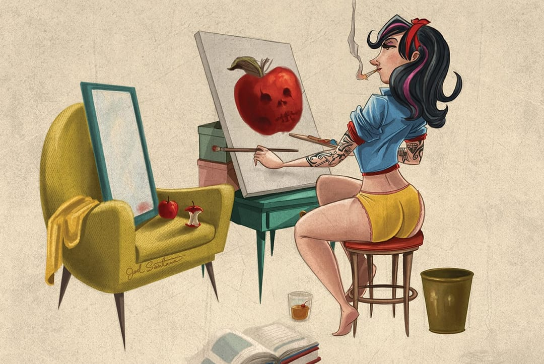 Snow White is some cool artist herself. By Joel Santana.