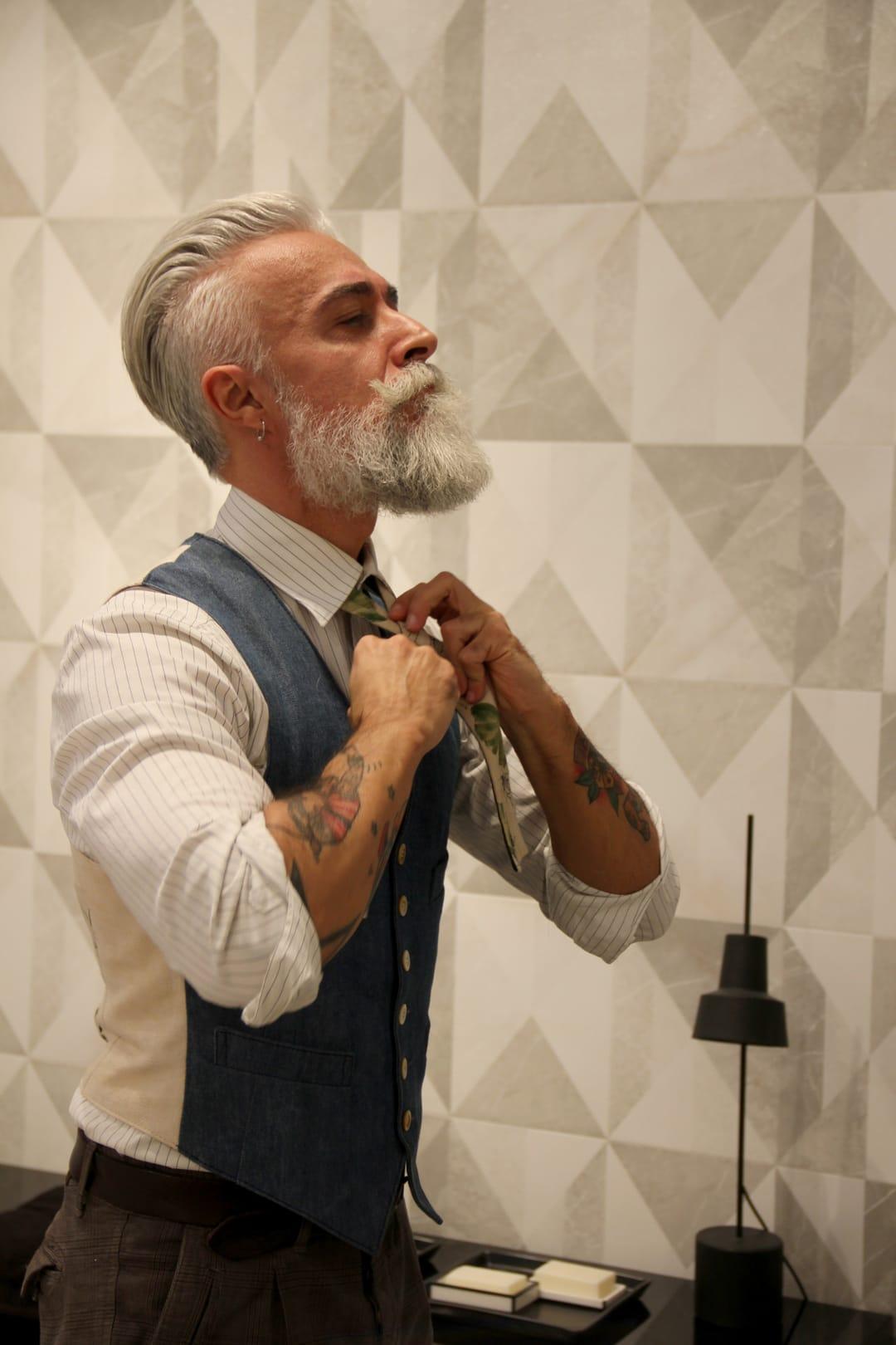 Italian Boy Name: Alessandro Manfredini Is Italy's Tattooed Silver Fox