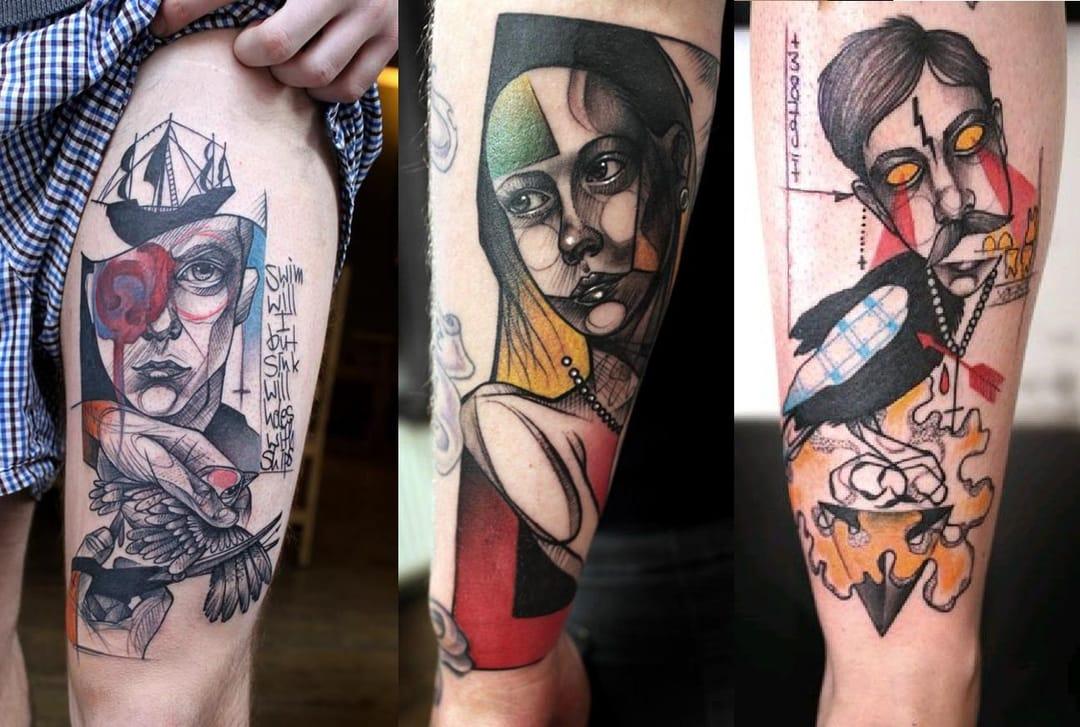 graphic tattoo by Peter Aurisch