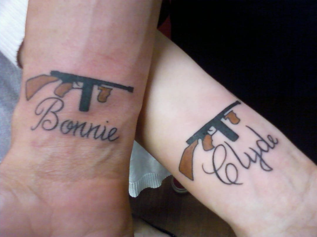 Bonnie And Clyde matching tattoos