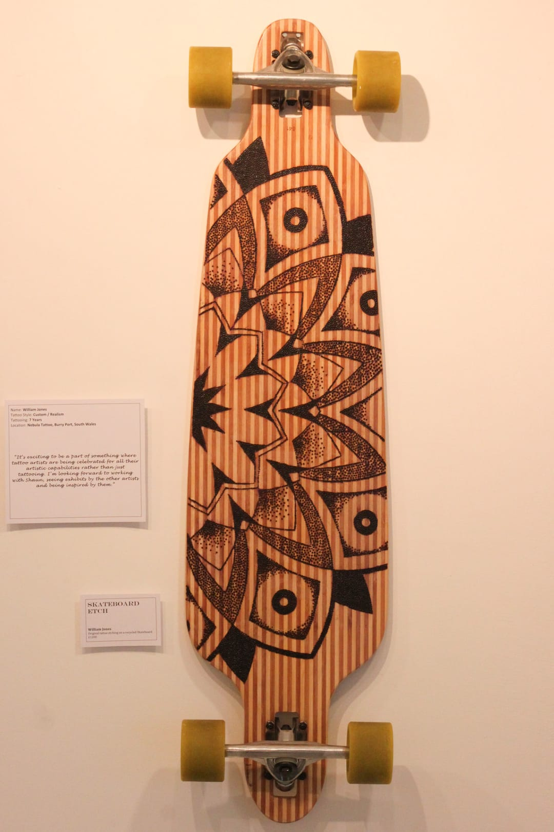 Custom skateboard by William Jones.