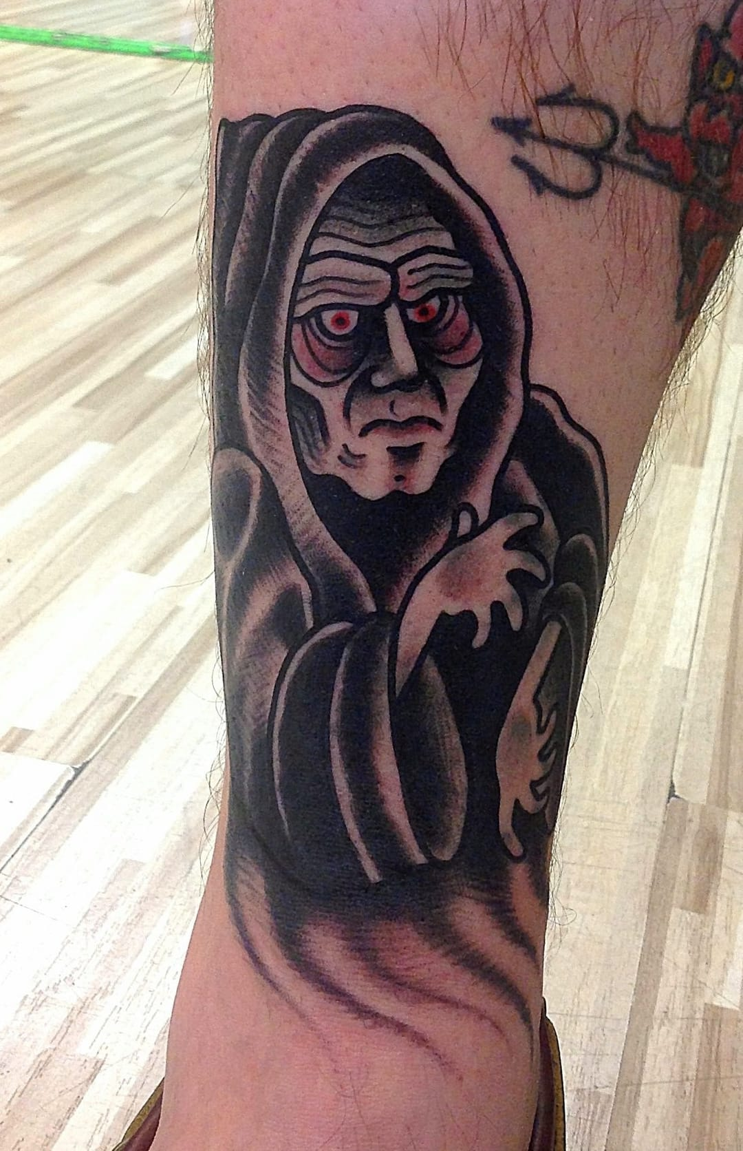 A really fun and solid traditional Emperor Palpatine tattoo!