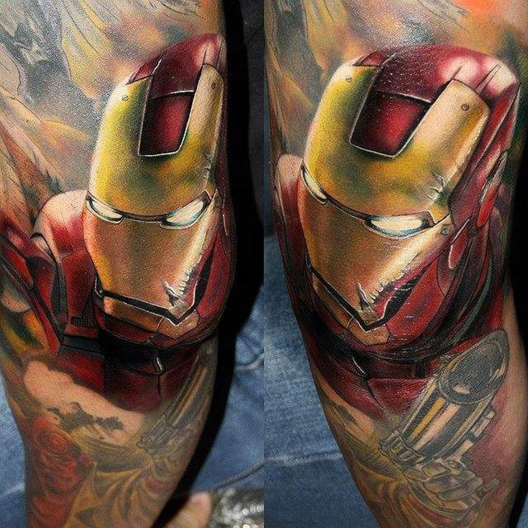 Beautiful photo realistic Iron Man in action