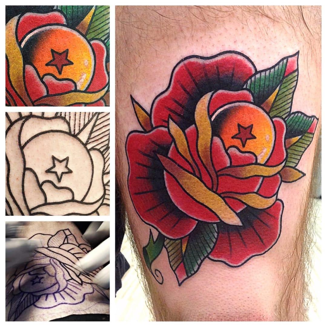 dragon ball tattoo by @perjtattoo