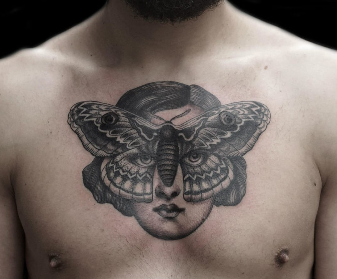 Creative tattoo by Maud Dardeau.