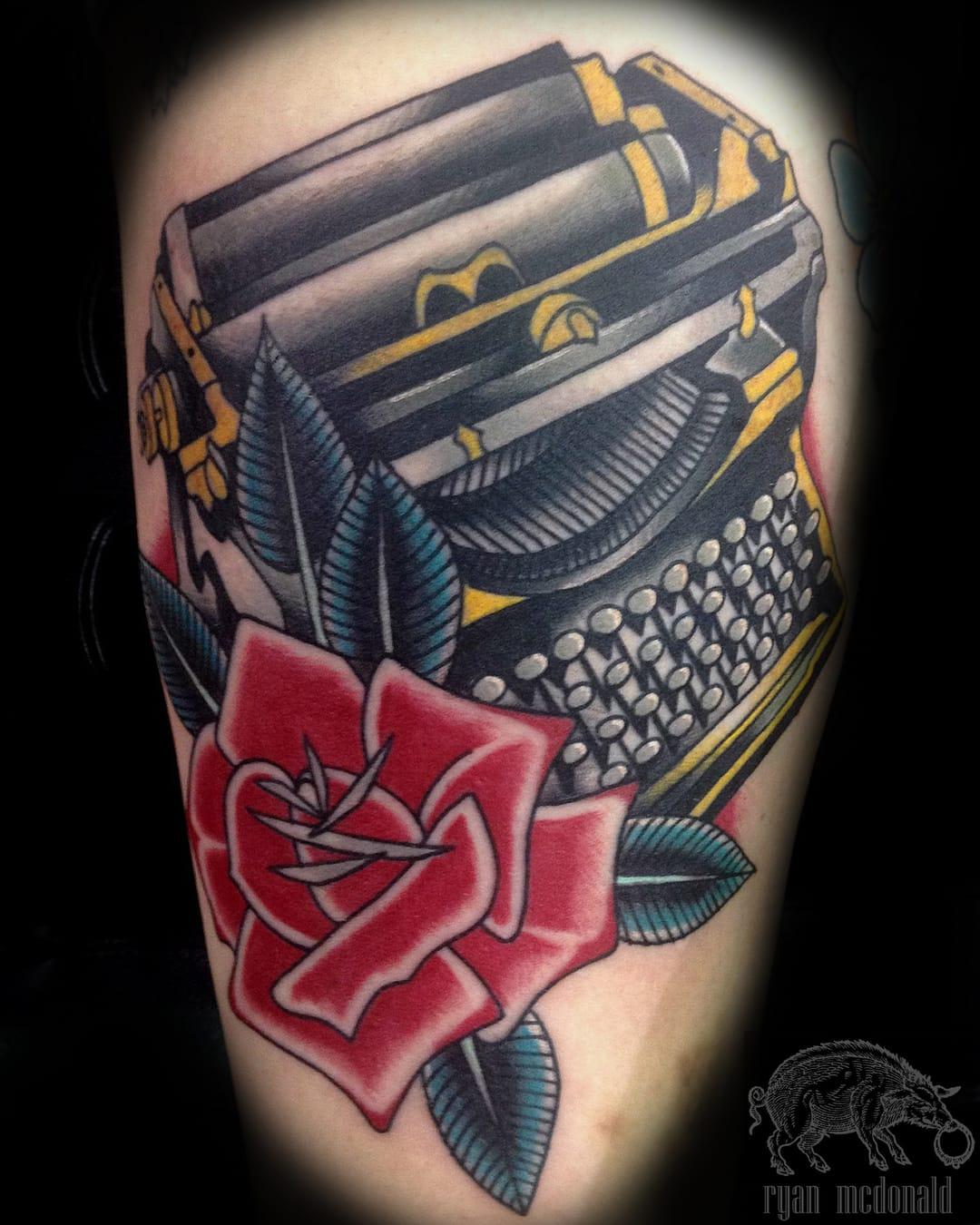 9 Awesome Traditional Typewriter Tattoos