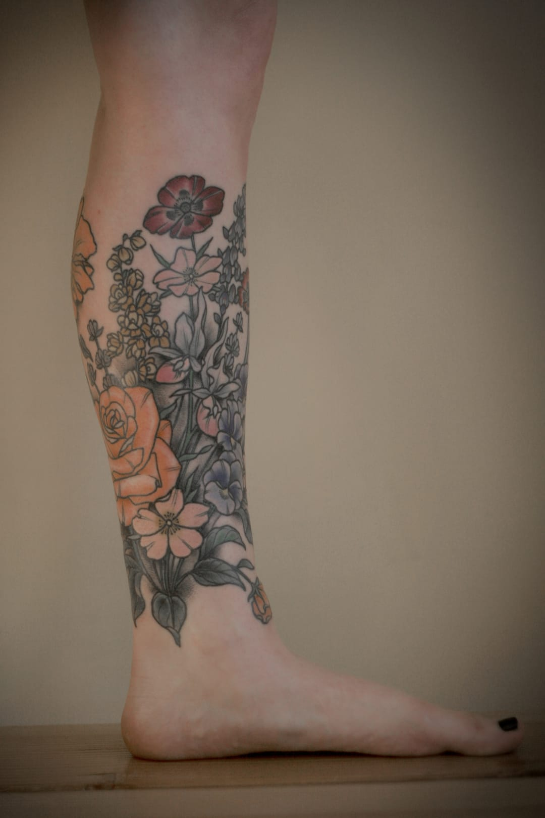 Beautiful flower tattoo.