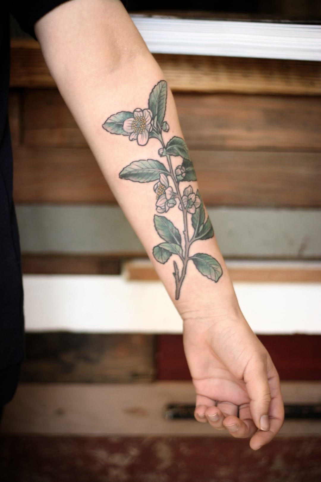 White Flower tattoo.