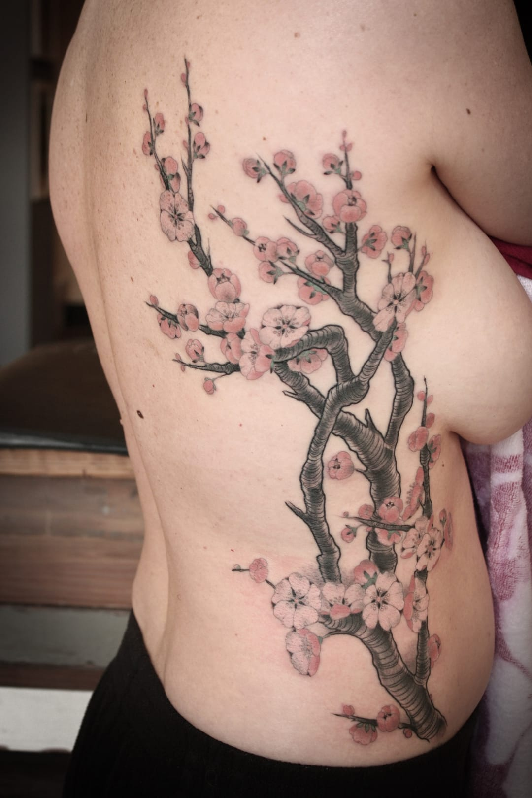 Flowers tattoo.